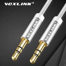 Kabel Audio VOXLINK 3.5mm pozłacana wtyczka z męskiego na męskie linia kablowa dla iPhone X Samsung Galaxy S8 samochód Xiaomi zestaw słuchawkowy z głośnikiem