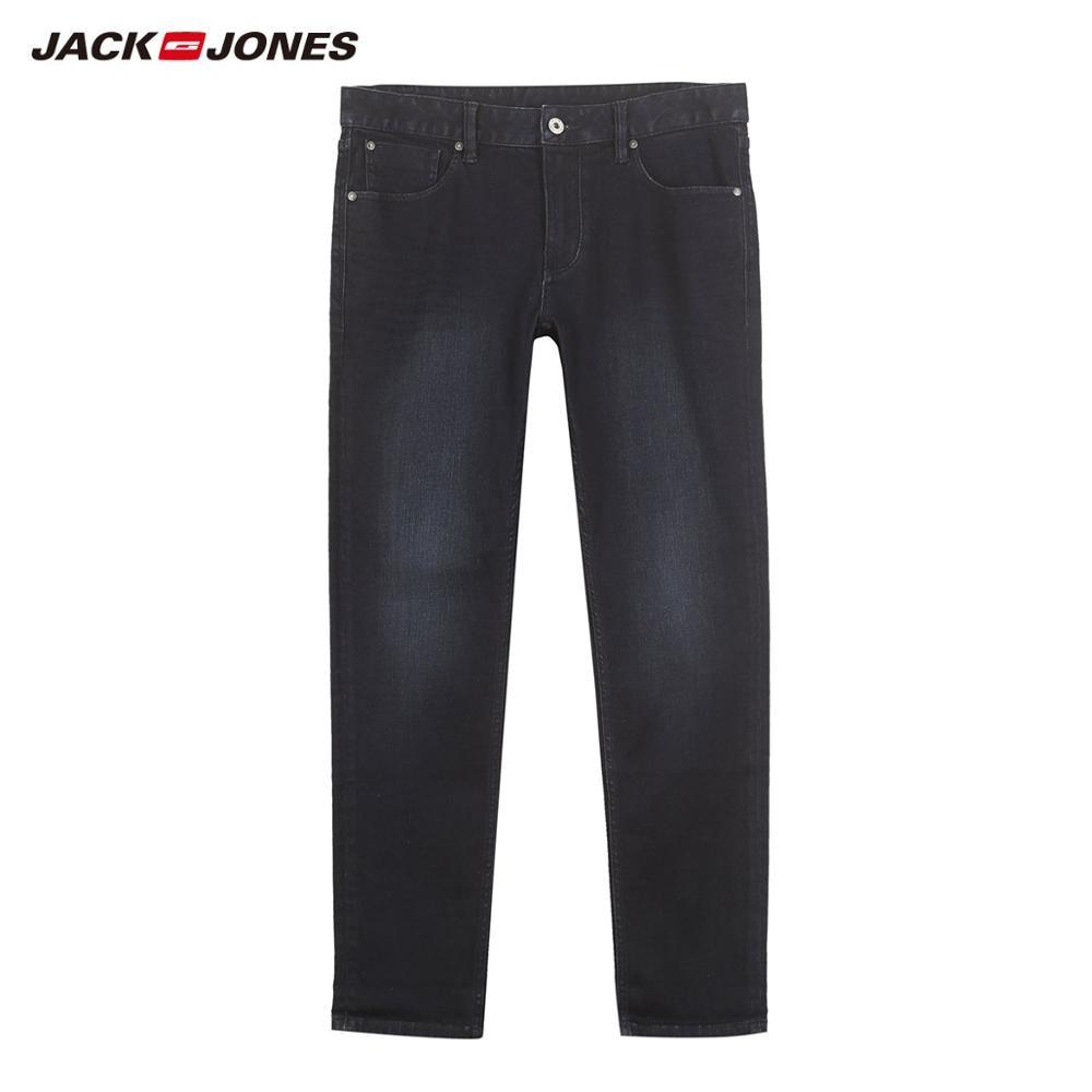 JackJones мужские эластичные мужские джинсы хлопковые джинсовые широкие брюки подходят брюки бренд Мужская одежда 219132584 - Цвет: 536-Dark Blue Slim