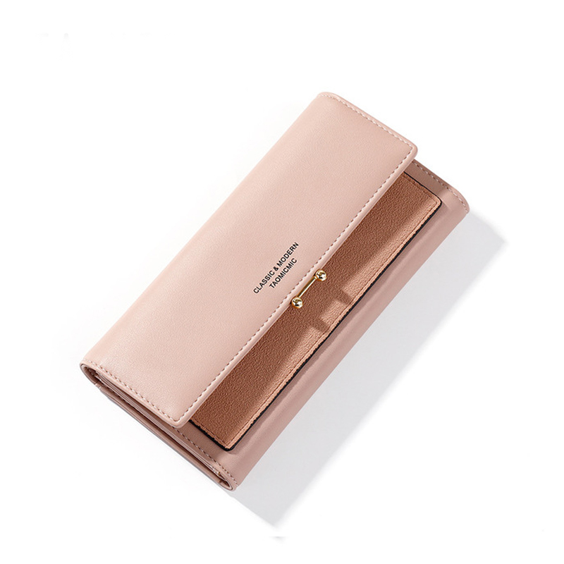 Long Leather Women Wallet Fashion Patchwork Phone Pocket Card Holder Coin Purse Larg Capacity Wallets Clutch Bag Female Pueses