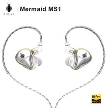 Hidizs Mermaid MS1 HiFi Audio patentado diafragma dinámico en la oreja Monitor auricular IEM con Cable desmontable 2 pines conector de 0,78mm(China)