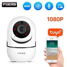 Fuers – caméra de Surveillance intérieure IP WiFi hd 1080P, dispositif de sécurité sans fil, avec suivi automatique, application Tuya, Surveillance bébé