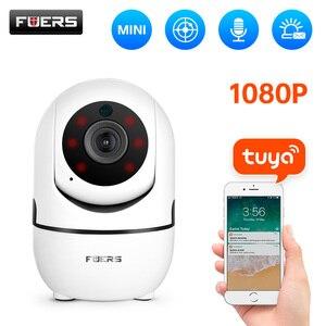 Image 1 - Fuers 1080P IPกล้องTuya APPอัตโนมัติติดตามกล้องรักษาความปลอดภัยภายในบ้านกล้องวงจรปิดไร้สายWiFi Baby Monitor