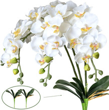 Artificial Butterfly Orchid Flowers Real Touch Orchids Fake Flowers Home Decor Fake Leaves Wedding Decoration Accessories