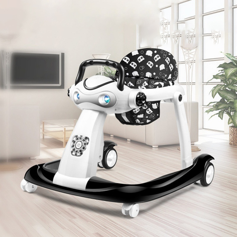 2 In 1 Multi-function Baby Walker Can Adjustable Speed Push Cart Easy Folding Infant Step Car With Music 6-24month