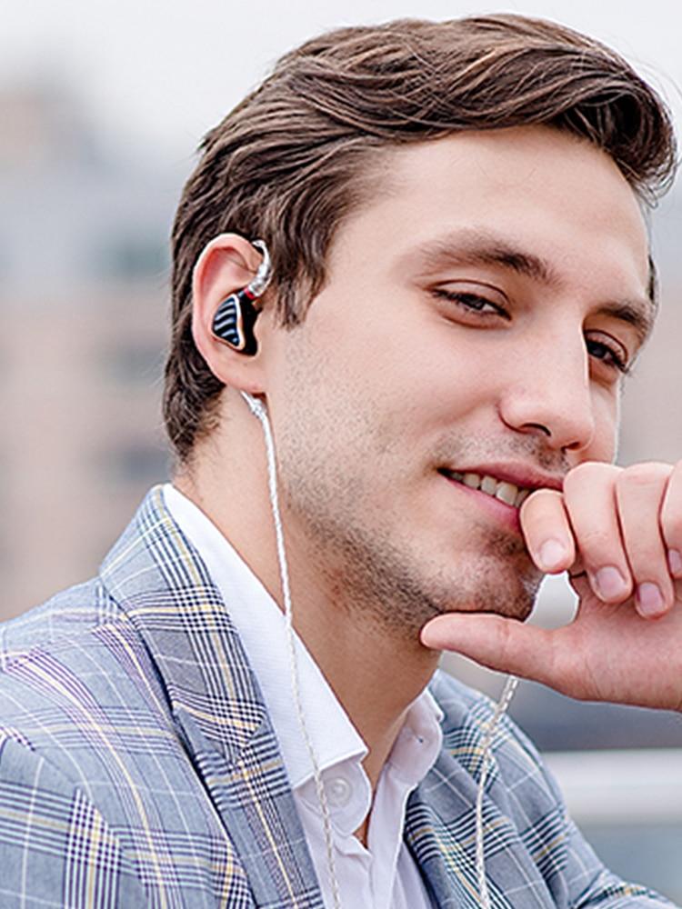 FIIO HIFI Earphone Detachable-Cable IEM MMCX Dynamic BA 5-Hybrid-Driver Audio-In-Ear