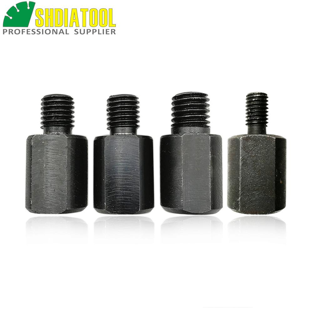 SHDIATOOL Different Thread Diamond Core Bits Adapter M14 To M10 Or M14 To 5/8 Or 5/8 To M14 Grinding Wheel Connection Converter