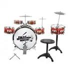 Instruments de jouet de musique de tambour d'enfants avec le tabouret de cymbales jouent le développement d'intérêt de musique de jeu pour le cadeau d'anniversaire de noël d'enfants