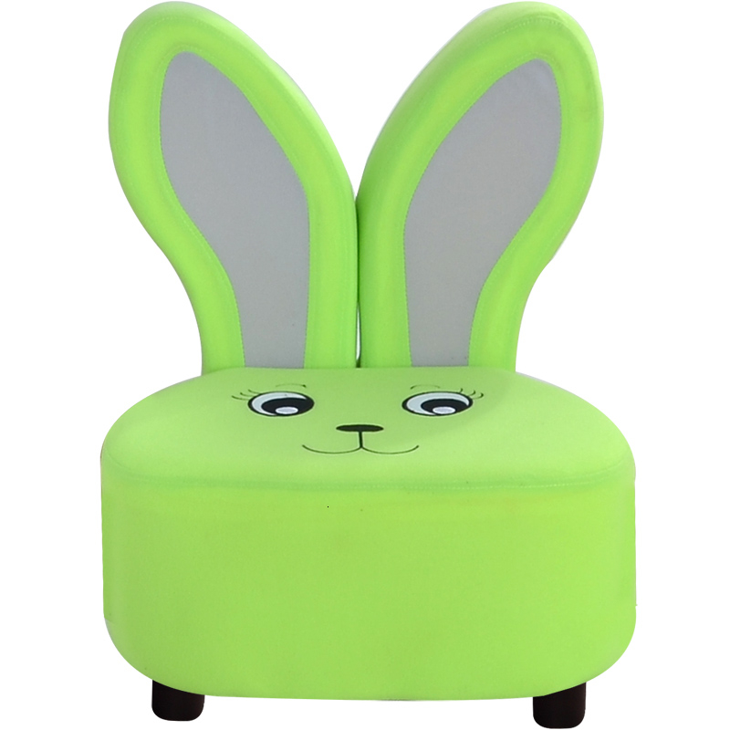 Lovely Green Rabbit Children Sofa Lazy People Fabric Art Sofa Originality Cartoon One Seat Kids Sofa Bean Bag Divano Bambino