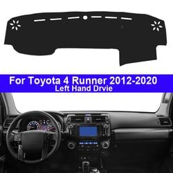 Авто приборной панели Крышка приборной 2 слоя для Toyota 4runner 4runner 2012-2020 для леворульных автомобилей коврик ковер коврик с рельефом 2016 2017 2018 2019
