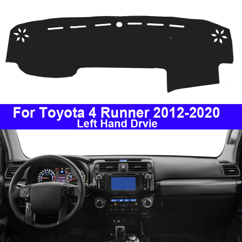 Car Auto Dashboard Cover Dashmat 2 Layers For Toyota 4 Runner 4Runner 2012 - 2020 LHD Pad Carpet Dash Mat 2016 2017 2018 2019