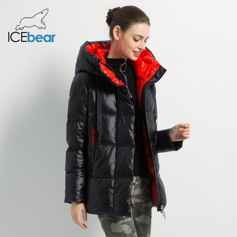 Новинка 2019, зимняя женская куртка, высокое качество, пальто с капюшоном, женские модные куртки, зимняя теплая Женская одежда, повседневные парки - 2