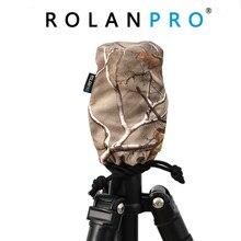 Rolanpro camuflagem à prova ddustágua dustproof saco de proteção para cabeça bola cabeça tripé capa chuva capa