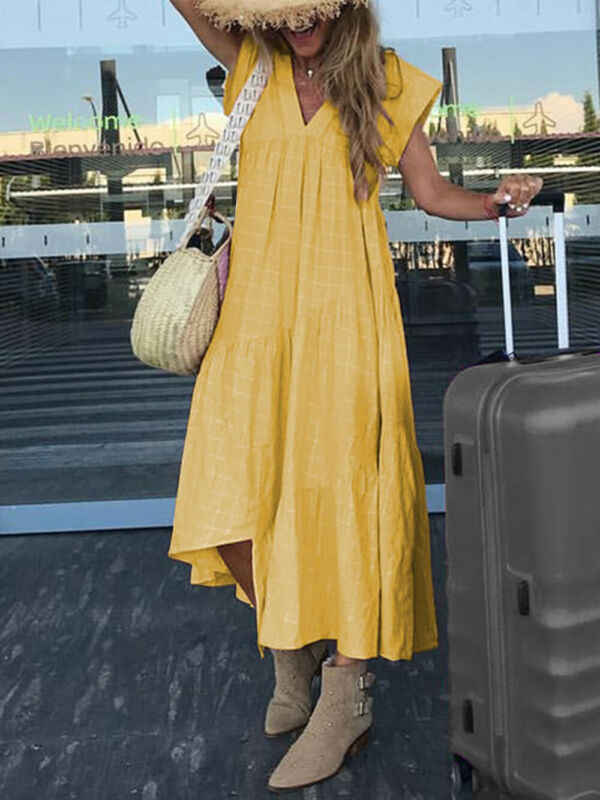 Vestito da Estate delle donne Boho Casual Lungo Maxi Partito di Sera di Clubwear del Vestito Dalla Spiaggia Vestito Estivo 2019 di Autunno Delle Ragazze Allentate Più Il Vestito formato