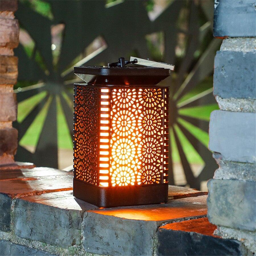 Thrisdar 2 pçs pendurado lanterna solar luz