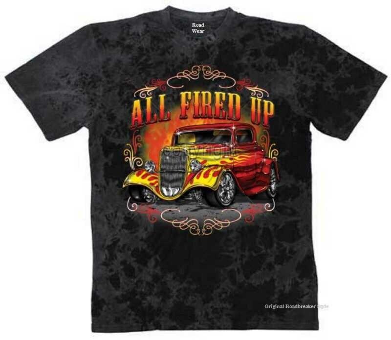 Worker Shirt grau V8 Oldschool Hot Rod US Car-/&50 Stylemotiv Modell Full Service