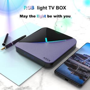 Image 2 - A95X F3 RGB אור טלוויזיה תיבת Amlogic S905X3 אנדרואיד 9.0 4GB 64GB תמיכה כפולה Wifi 8K 60fps plex Media שרת A95XF3 סט Top Box