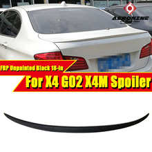 For BMW X4 G02 M style Performance FRP Unpainted duckbill Trunk lid spoiler wing Spoiler rear diffuser stem 18-in