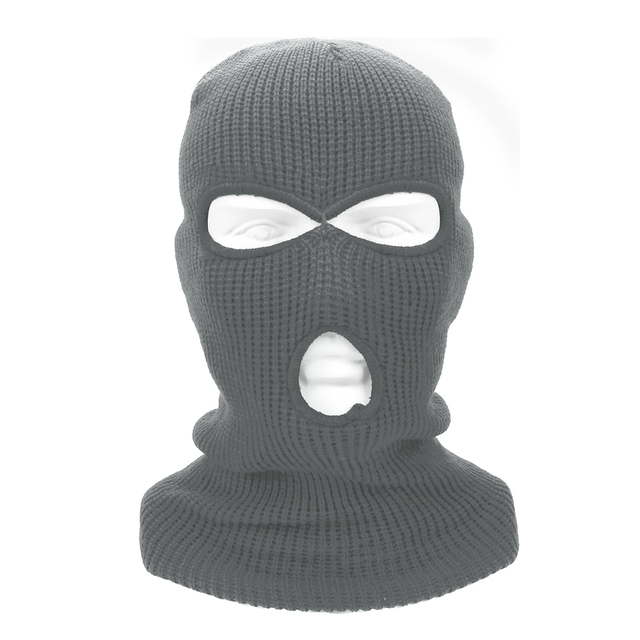 LEEPEE 3 Hole Balaclava Knit Hat Army Tactical Mask Winter Stretch Ski Full FaceMask Full Face Helmet 2