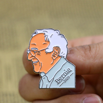Bernie Sanders Badge Pins Brooches 2020 Amercian Campaign Anti Trump Enamel Lapel Pin Badge Brooch clothing accessories image