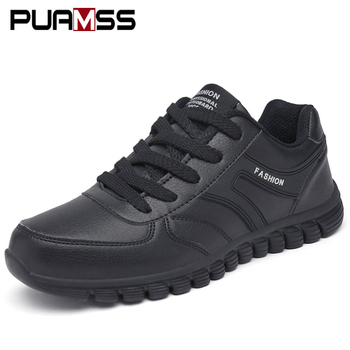 Men Casual Shoes Leather Outdoor Sneakers 2019 New Winter Outdoor High Quality Comfortable Male Casual Shoes Zapatos De Hombre
