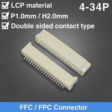 FPC Socket 1.0 Double Side Contact Type 4 5 6 7 8 9 10 14 16 18 20 22 24 26 34Pin nlw t1b613 14 16 18 20