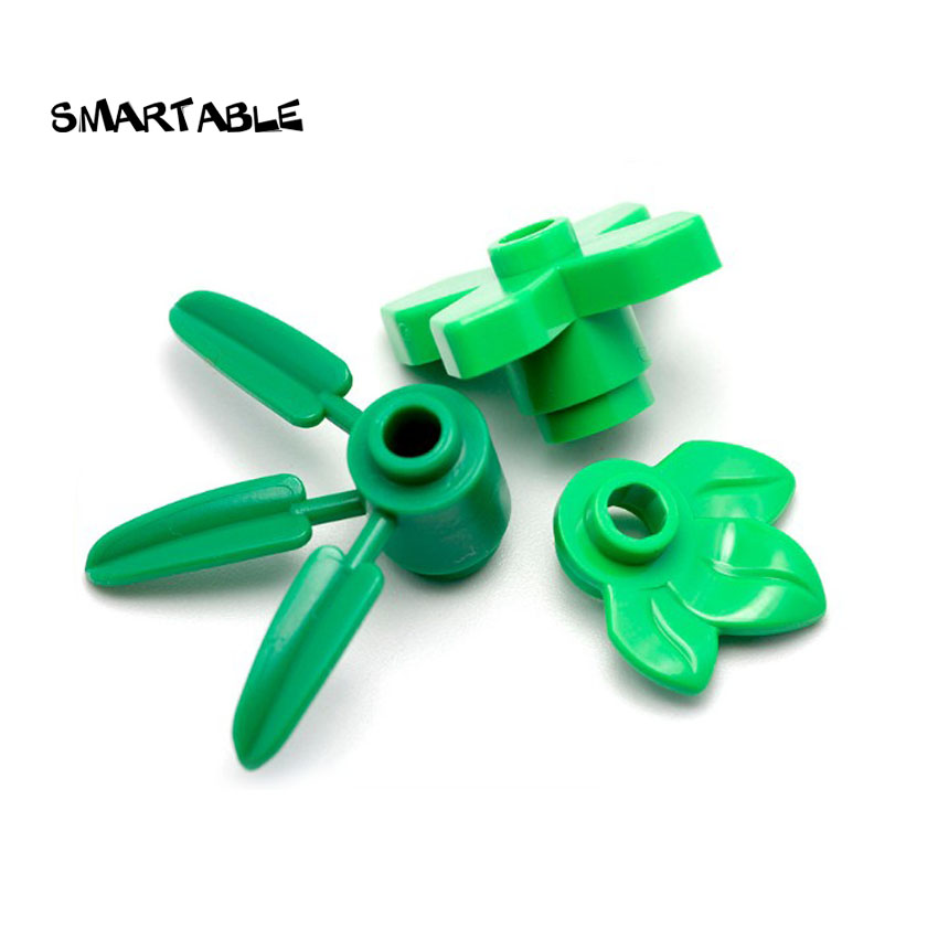 *NEW* 50 Pieces Lego GREEN Plant Leaves 4x3 2423