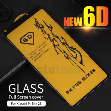 Tempered Glass For Xiaomi Mi MIX 2 2S HD Full Cover Screen Protector xiaomi mix2s 6D Film