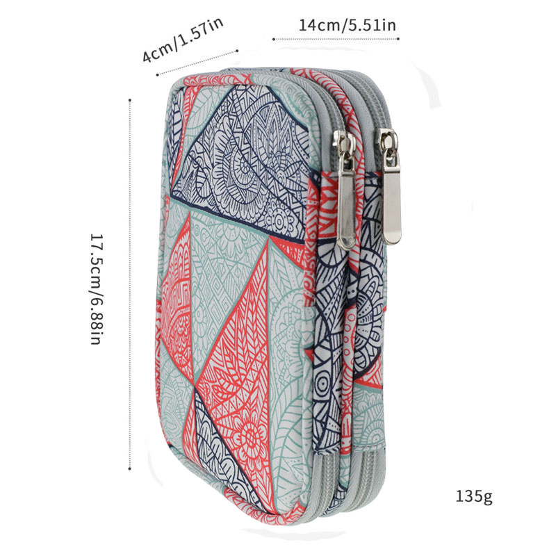 Image 2 - Geometric Style Storage Bag With Crochet Hook Set For DIY Weave Clothes Empty Yarn Bag For Crochet Hooks And Knitting Needles-in DIY Knitting from Home & Garden