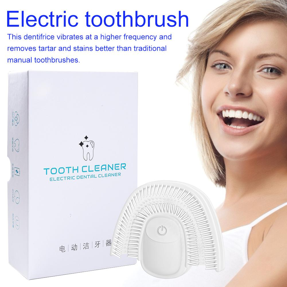 Electric Sonic Toothbrush 360 Degrees U Type Waterproof Automatic Intelligent Silicone Toothbrush Whitening Health Best Gift image