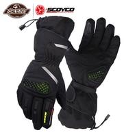SCOYCO Waterproof Guantes Moto Men Motorcycle Gloves Moto Gloves Windproof Gant Moto Motorbike Racing Riding Gloves For Winter