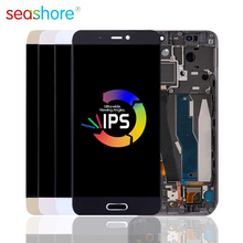 ORIGINAL For XIAOMI Mi 5 LCD Touch Screen Digitizer Assembly For Xiaomi Mi5 Display with Fingerprint Frame Replacement M5 Screen стоимость