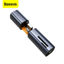 Baseus 2 في 1 قارئ بطاقات USB 3.0 نوع C إلى SD مايكرو SD TF محول لأجهزة الكمبيوتر المحمول OTG Cardreader الذاكرة الذكية مايكرو SD قارئ بطاقة