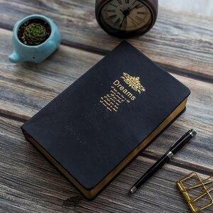 Image 1 - レトロスーパー厚み208枚のブランクノートブックジャーナルリムゴールデンヴィンテージ聖書日記ジャーナルプランナーアジェンダメモ帳文房具