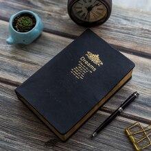 Cuaderno Retro Súper grueso de 208 hojas en blanco, llanta dorada Vintage, diario bíblico, diario, Agenda, Bloc de notas, papelería