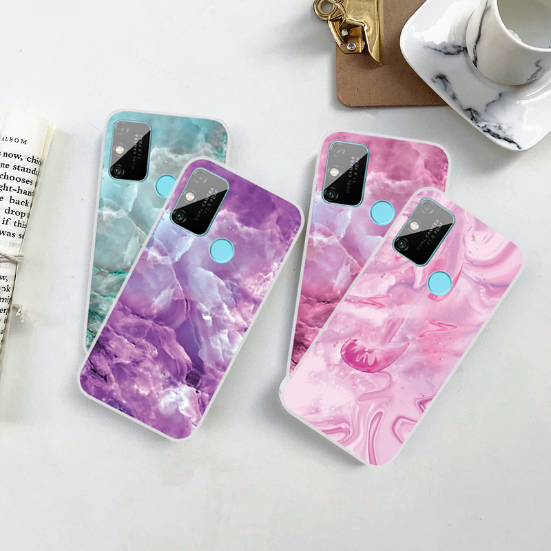 Luxury Shockproof <font><b>Silicone</b></font> Marble Phone <font><b>Case</b></font> For <font><b>Huawei</b></font> Y5 <font><b>Y6</b></font> Y7 Prime <font><b>2018</b></font> 2019 Y7S Y7P Y3 II Clear Soft TPU Cover Protection image