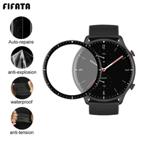 FIFATA-Protector de pantalla de cobertura completa para reloj inteligente Huami Amazfit GTR 2 GTR2, 3D, curvo/HD, transparente, TPU