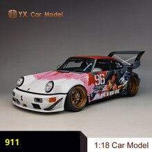 GT Geist Porsche 911 RWB AKIBA farbe Keine. 96 simulation auto modell 1 18