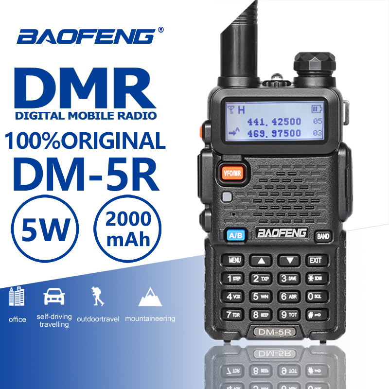 Baofeng DM-5R Tier1 Tier2 Repeater Digital Walkie Talkie DMR Dual Band DM 5R Dual Time Slot Two Way Radio DM5R Radio Comunicador