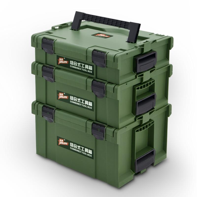 Caja de Herramientas, caja de herramientas de plástico gruesa, caja de almacenamiento para taladro eléctrico de electricista y carpintero, caja de herramientas para coche|Estuches de herramientas|   - AliExpress