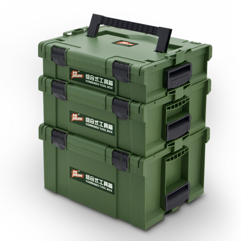 Hardware Toolbox Plastic Thick Composable Suitcase Electrician Carpenter Electric Drill Storage Box Car Box Tool Case