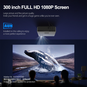 Image 2 - AUN 풀 HD 프로젝터 AKEY6/S, 6800 루멘 1920x1080P 홈 시네마 (옵션 안드로이드 6.0 WIFI) HDMI VGA for GYM 4K Video Proyector