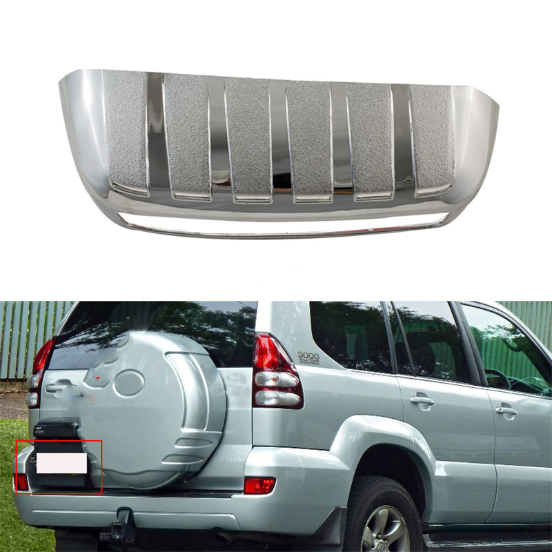 ABS Rear back License Plate Trunk Lid Cover For <font><b>Toyota</b></font> <font><b>Land</b></font> <font><b>Cruiser</b></font> <font><b>Prado</b></font> <font><b>FJ120</b></font> 2002-2009 Auto parts Trim image