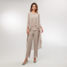 Women's Three Pieces Mother of The Bride Pant Suits with Lon