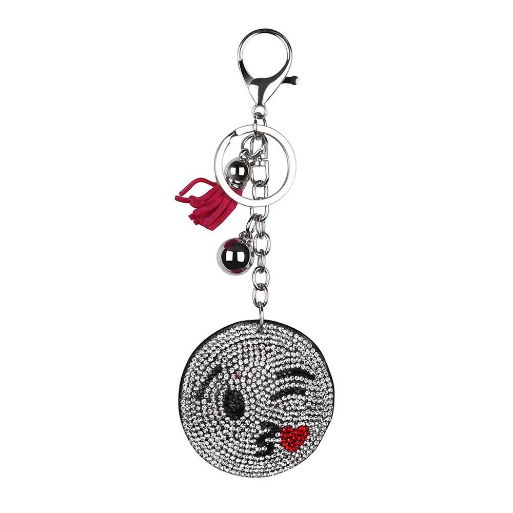 Брелок для ключей на Хэллоуин, брелок с расцепной брелок, брелок с бриллиантами, подарок на Хэллоуин - Цвет: F