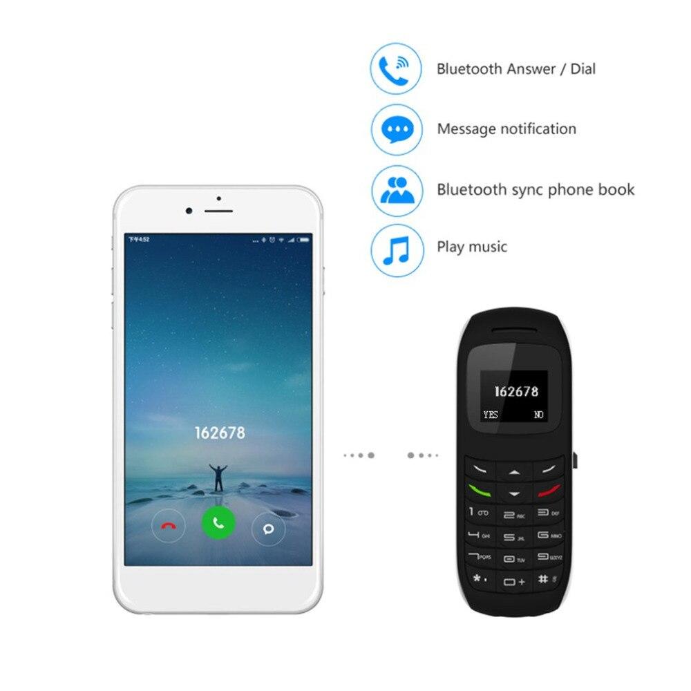 Mini portátil do telefone móvel forma fones