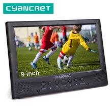 Leadstar caixa de som portátil para tv, alto falante frontal para tv, atsc tdt, 9 polegadas, digital e analógico, DVB T2, suporte para h.265 ac3