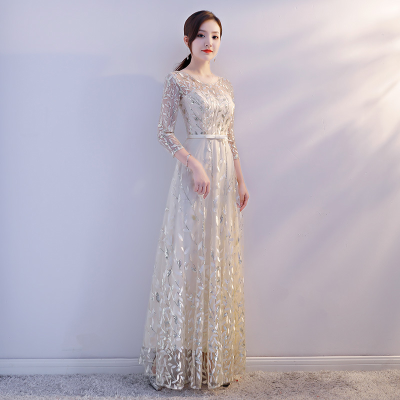 2019 New Style Chorus Costume Long Skirts Host Banquet WOMEN'S Dress Adult Evening Gown Choral Service Long Skirts