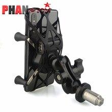 Suporte do telefone na haste da forquilha suporte de montagem da motocicleta gps suporte de navegação para yamaha yzf r1 2002-2017 r6 2006-2017 r1m 2007 2008