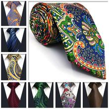 Dot Floral Mens Necktie Silk Paisley 63 Fashion Extra long size Ties for Men Colorful Wedding