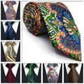 Dot floral masculino gravata de seda paisley 63